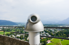 A viewing mechanism at the top of the fortress