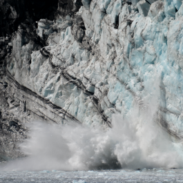 Ice calving off Margerie Glacier