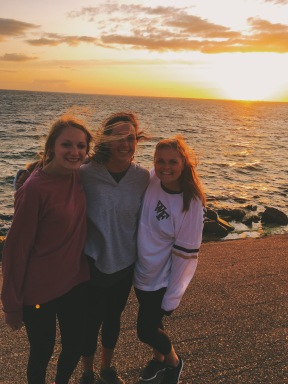 Sunset bike rides with my roommates Rachel (left) and Emma (middle) | August 31, 2017
