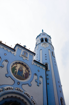 St. Elizabeth's Blue Church — look how blue!