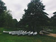 Canoes ready to go