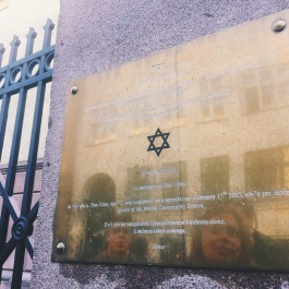 "The plaque outside the synagogue reads: ""In memory of Dan Uzan. At this place, Dan Uzan, age 37, was murdered by a terrorist on February 15th 2015, while protecting guests at the Jewish Community Centre. Evil can be vanquished through human kindness alone. Kindness takes courage."""