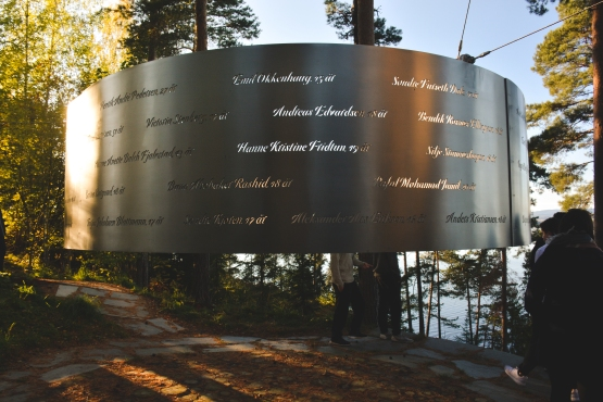 The memorial is inscribed with the names and ages of all of the victims