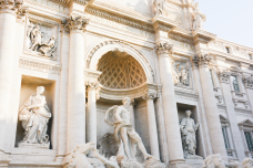 Trevi Fountain—we went in the early morning and the light was beautiful