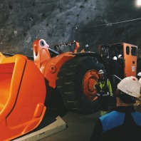 Some of the machinery used to excavate the iron ore